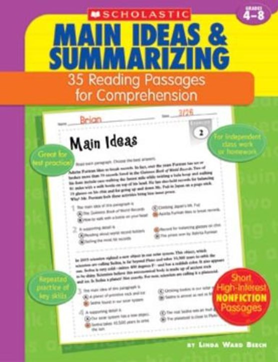 35 Reading Passages for Comprehension: Main Ideas & Summarizing: 35 Reading Passages for Comprehension