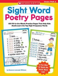 Sight Word Poetry Pages   Rozanne Lanczak Williams  