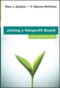 Joining a Nonprofit Board   Epstein, Marc J. ; McFarlan, F. Warren  