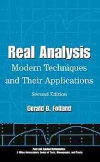 Real Analysis | Gerald B. Folland |