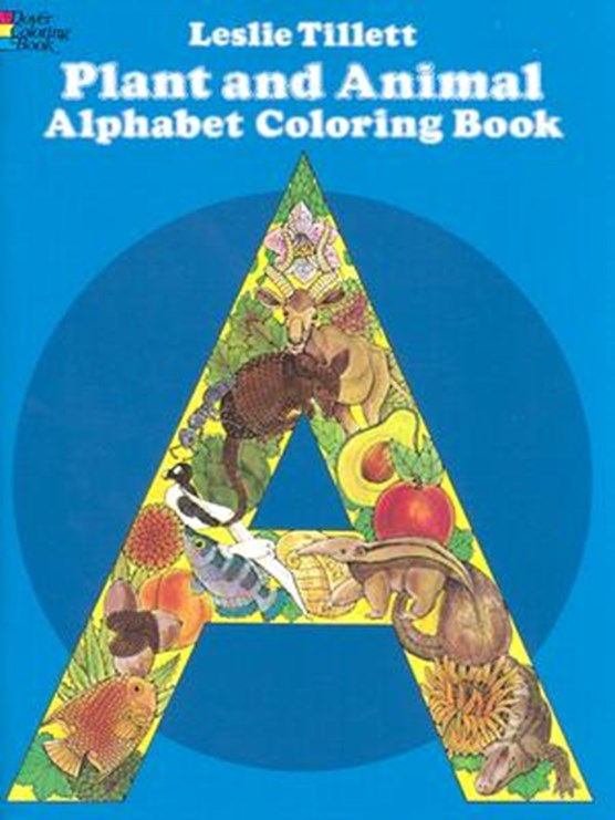 Plant and Animal Alphabet Coloring Book