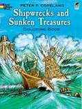 Shipwrecks and Sunken Treasures Coloring Book   Peter F. Copeland  