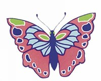 Shiny Butterflies Stickers | Marty Noble |