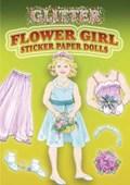 Glitter Flower Girl Sticker Paper Doll   Barbara Steadman  