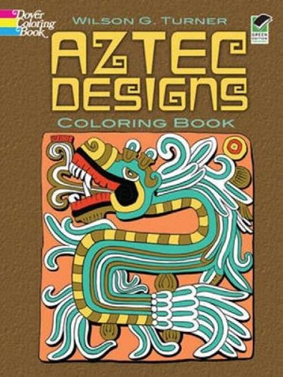 Aztec Designs Coloring Book