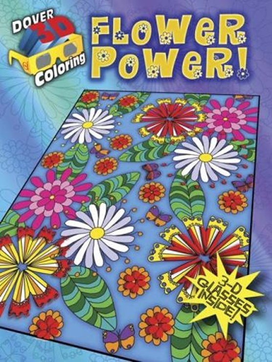 3-D Coloring Book - Flower Power!