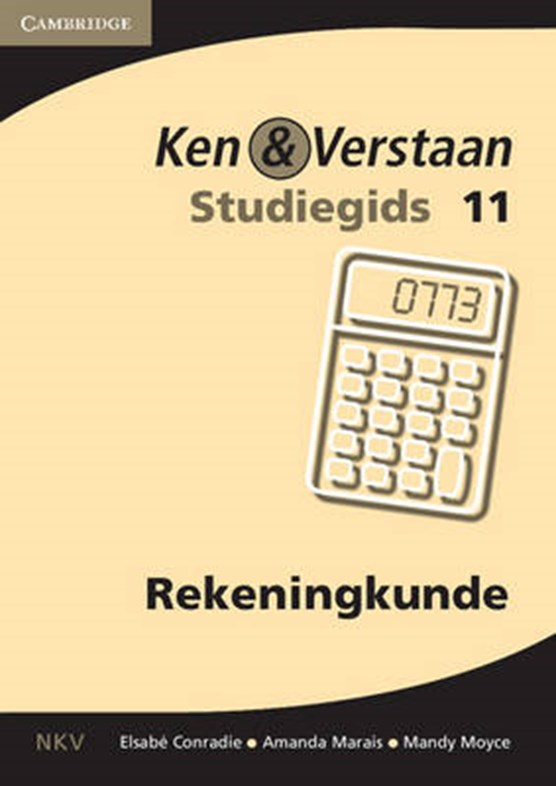 Study and Master Accounting Grade 11 Study Guide Afrikaans Translation