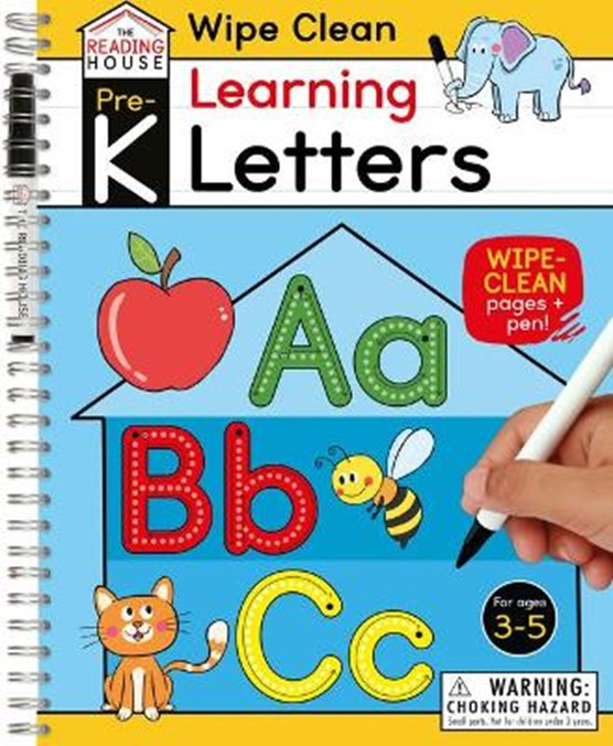 Learning Letters (Pre-K Wipe Clean Workbook): Preschool Wipe Clean Activity Workbook, Ages 3-5, Letter Tracing, Uppercase and Lowercase, First Words,