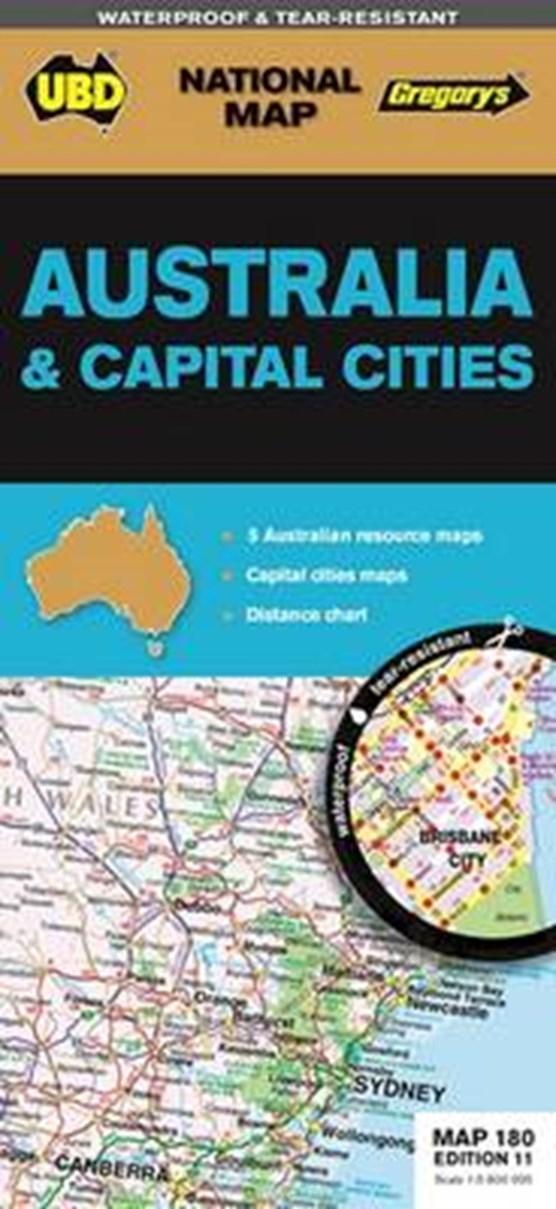 Australia & Capital Cities 1 : 5 800 000