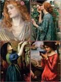 Set of Four Magnetic Notepads: Pre-Raphaelites   auteur onbekend  