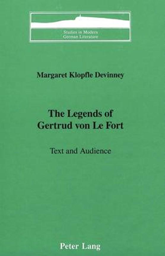 The Legends of Gertrud Von Le Fort