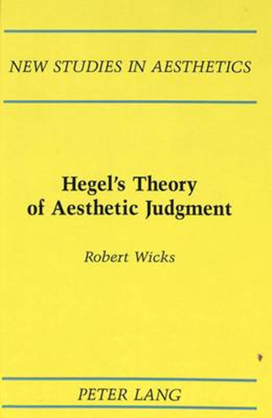 Hegel's Theory of Aesthetic Judgment