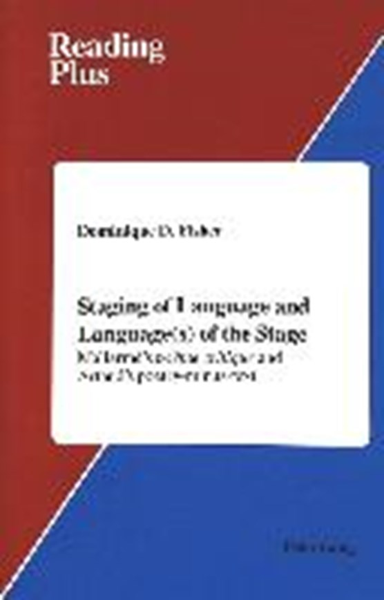Staging of Language and Language(s) of the Stage