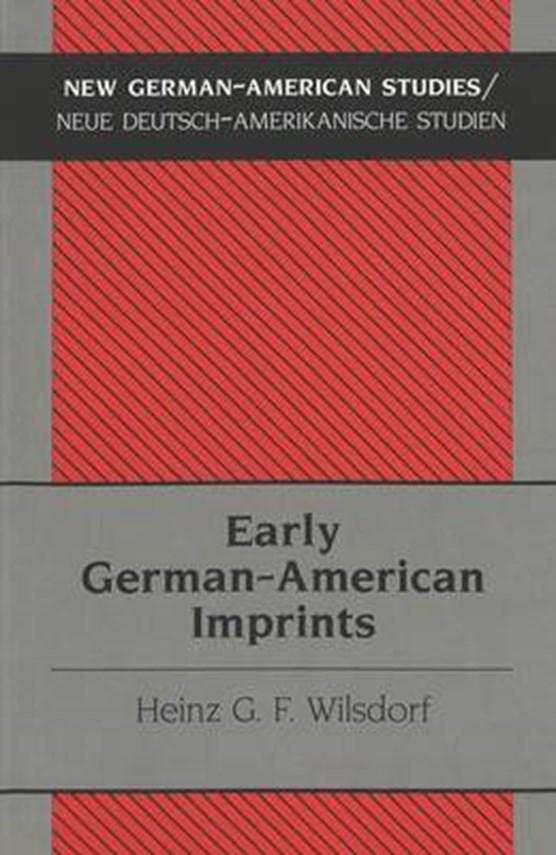 Early German-American Imprints