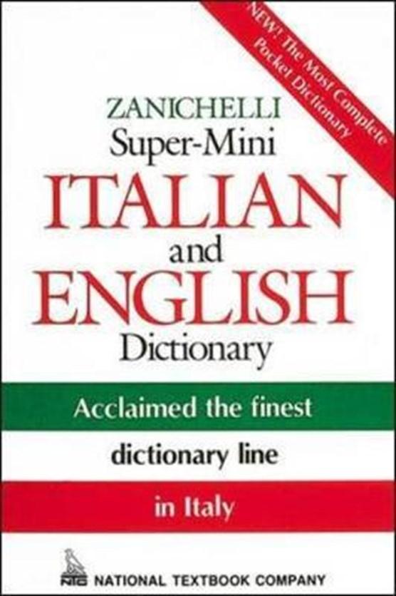 Zanichelli Super-Mini Italian and English Dictionary