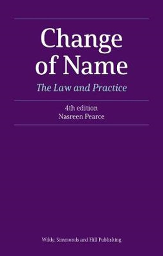 Change of Name: The Law and Practice