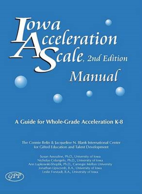 Iowa Acceleration Scale Manual
