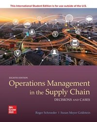 OPERATIONS MANAGEMENT IN THE SUPPLY CHAI | Schroeder |