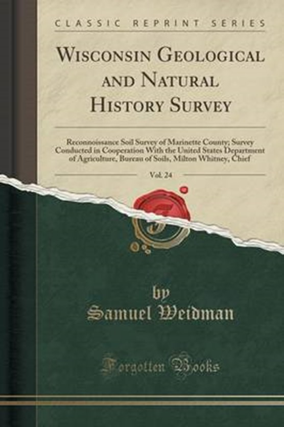 Weidman, S: Wisconsin Geological and Natural History Survey,