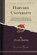 Bolles, F: Harvard University | Frank Bolles |
