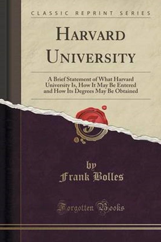 Bolles, F: Harvard University