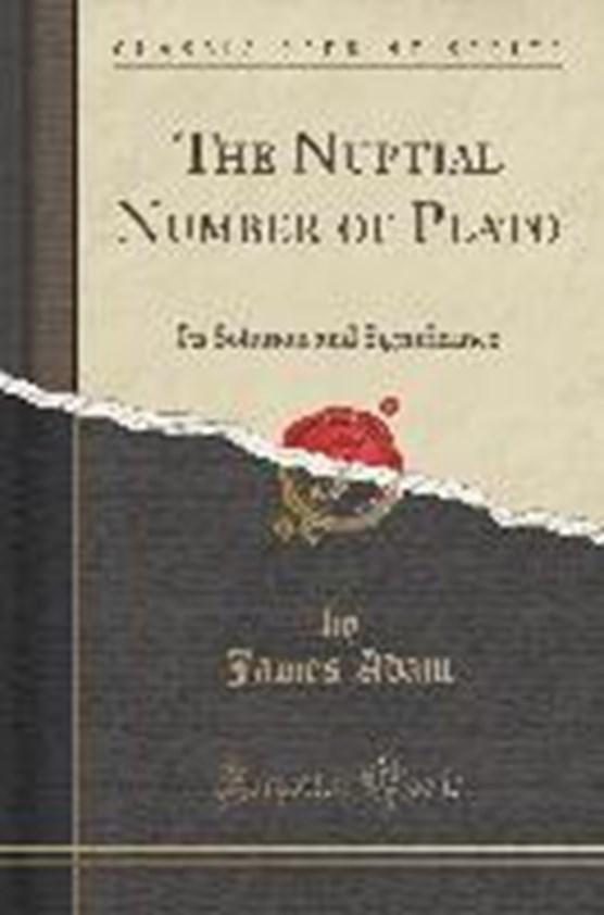 Adam, J: Nuptial Number of Plato