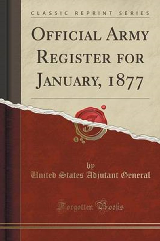 General, U: Official Army Register for January, 1877 (Classi