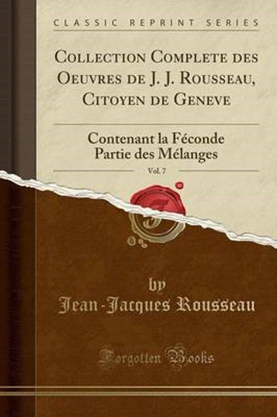 Rousseau, J: Collection Complete des Oeuvres de J. J. Rousse