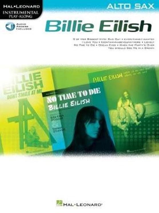 Billie Eilish Instrumental Play-Along Book/Online Audio for Alto Sax: Alto Sax Instrumental Play-Along Pack