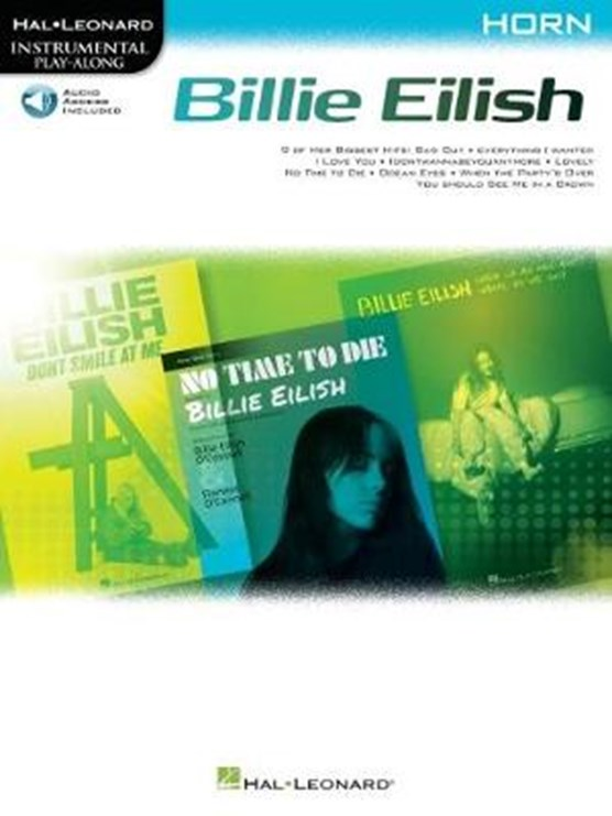 Billie Eilish Instrumental Play-Along Book/Online Audio for Horn: Horn Instrumental Play-Along Pack