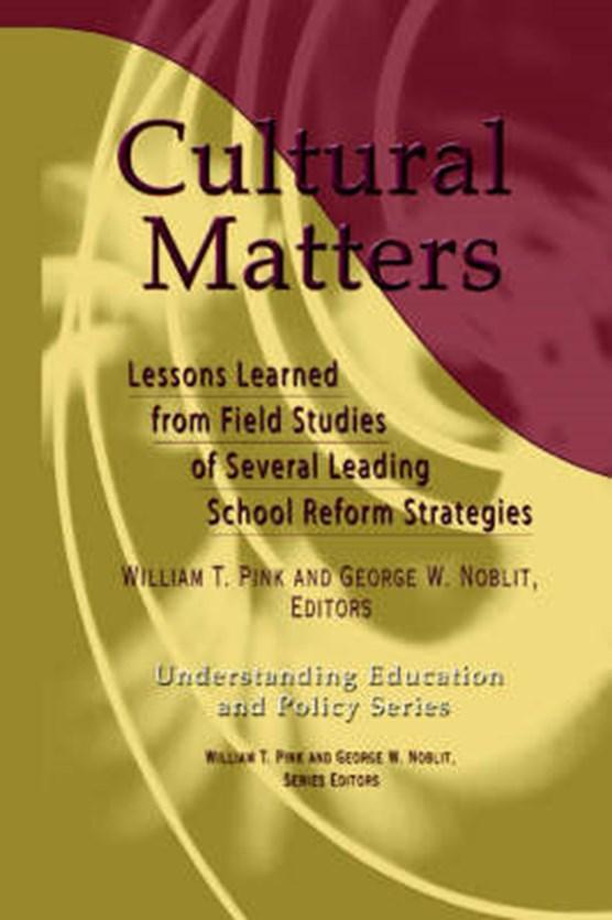Cultural Matters