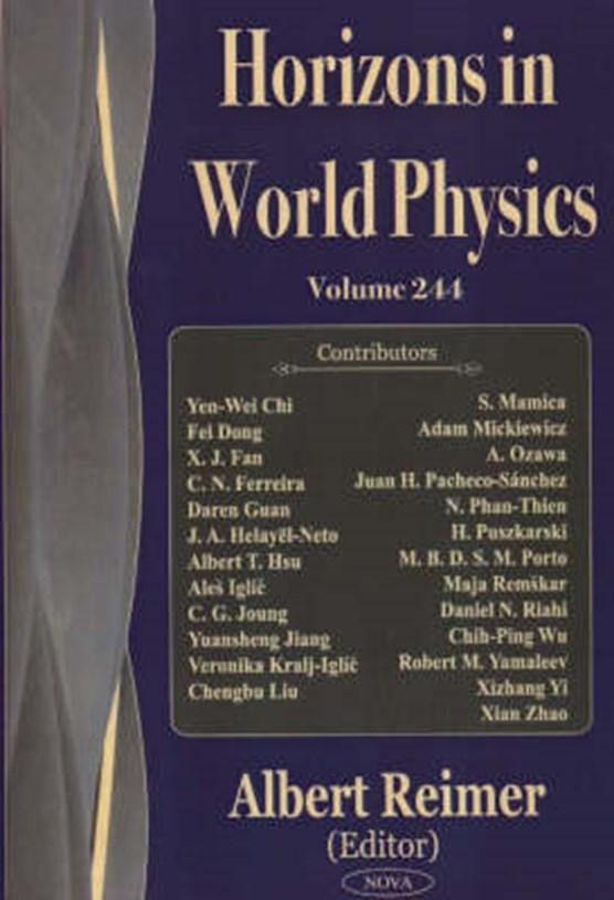 Horizons in World Physics, Volume 244