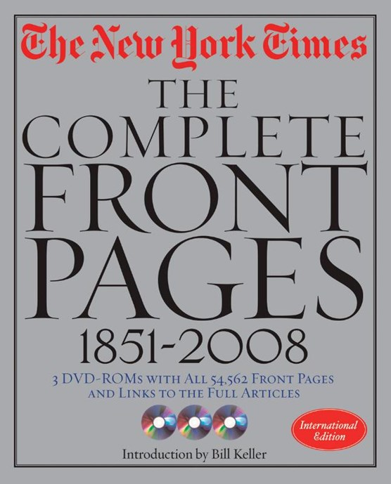 New York Times Frontpages