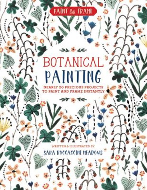 Paint and frame: botanical painting