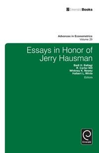 Essays in Honor of Jerry Hausman   Badi H. Baltagi ; Whitney Newey ; Hal White ; R. Carter Hill  