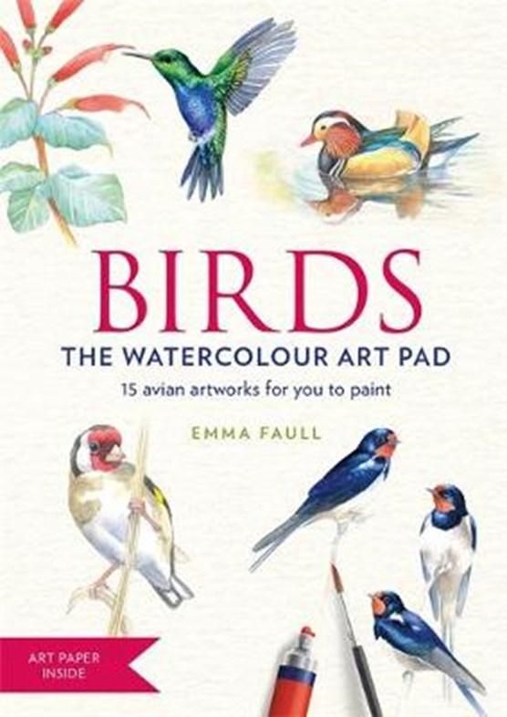 BIRDS Watercolour Art Pad