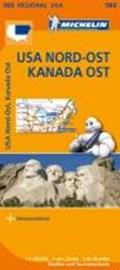 Michelin Regionalkarte USA Nordost, Kanada Ost 1 : 2 400 000 | auteur onbekend |
