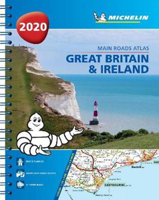 Great Britain & Ireland 2020 - Mains Roads Atlas (A4-Spiral)
