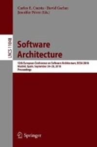 Software Architecture   Carlos E. Cuesta ; David Garlan ; Jennifer Perez  