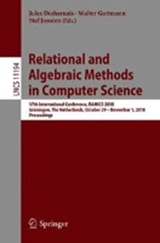 Relational and Algebraic Methods in Computer Science