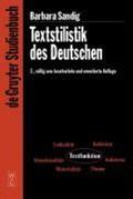 Textstilistik des Deutschen | Barbara Sandig |