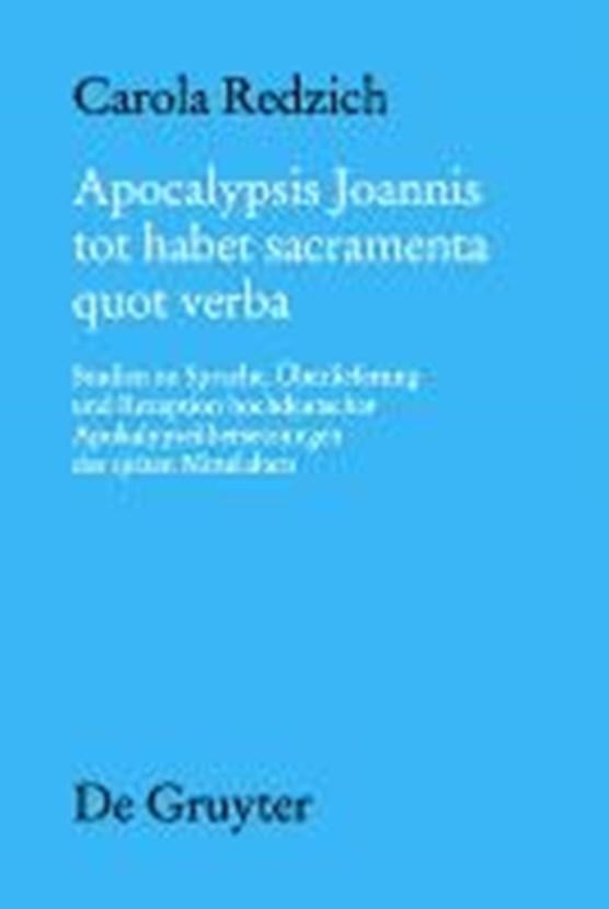 Apocalypsis Joannis tot habet sacramenta quot verba