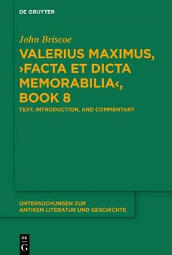 Valerius Maximus, Facta Et Dicta Memorabilia