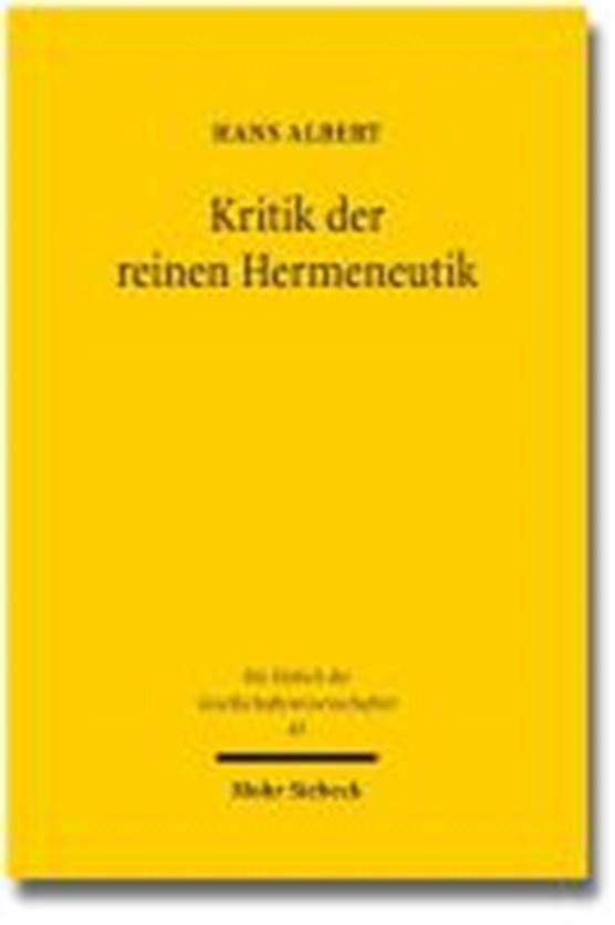 Albert, H: Kritik der reinen Hermeneutik