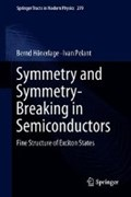 Symmetry and Symmetry-Breaking in Semiconductors | Bernd Hoenerlage ; Ivan Pelant |