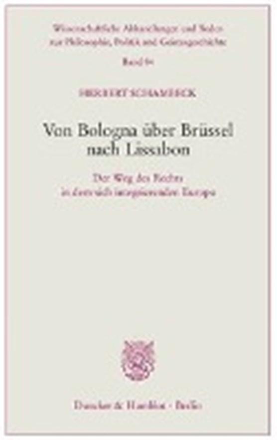 Von Bologna über Brüssel nach Lissabon