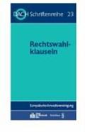 Rechtswahlklauseln | auteur onbekend |