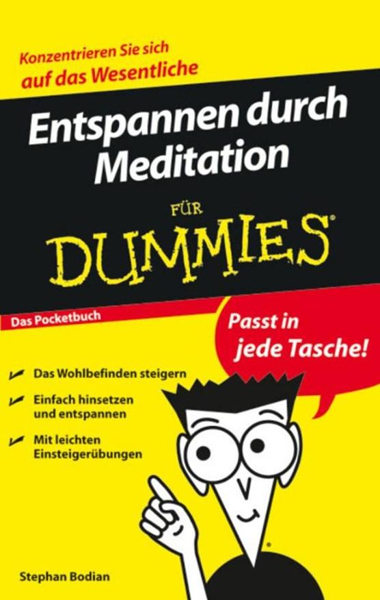 Entspannen durch Meditation fur Dummies Das Pocketbuch