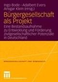 Burgergesellschaft ALS Projekt   Giessen) Evers ; Ansgar Klein Ingo (university Of Duisburg Meal Germany) Bode ; Adalbert (justus-Liebig-Universitat  