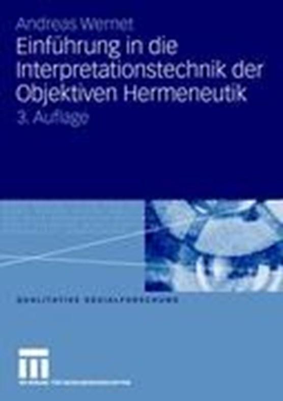 Einfuhrung in Die Interpretationstechnik Der Objektiven Hermeneutik